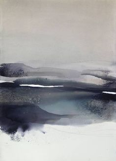 """""""Remaining in Silence..."""" / Abstract Watercolor"""
