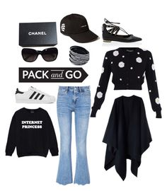 """""""#PackandGo"""" by cat-forsley ❤ liked on Polyvore featuring MiH, adidas, Chanel, Dolce&Gabbana, White House Black Market, Acne Studios, women's clothing, women, female and woman"""