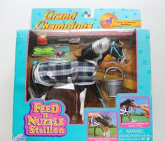 Vintage Grand Champions Toy Horse 1996 by WylieOwlVintage on Etsy Barbie Horse, Toys For Tots, Most Beautiful Horses, 90s Toys, Back In The Day, Vintage Toys, Om, Nostalgia, Champion