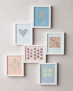 Instead of preserving your bouquet intact, snip flowers and dry them for 10-12 days between the pages of some newspaper pressed in a phonebook. Then frame the blooms in creative patterns!
