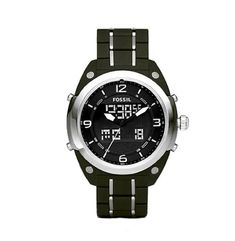 Fossil Men's BQ9383 Olive Stainless Steel Bracelet Black Analog-Digital Dial Watch Fossil. $125.00. Olive stainless steel bracelet. Water-resistant to 165 feet (50 M). Tell more than just time with the Fossil BQ9383 analog-digital watch. Ultra strong mineral glass dial window helps prevent scratches. Black analog-digital dial