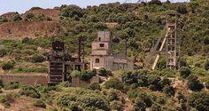 Panoramica del sito minerario di Canaglia
