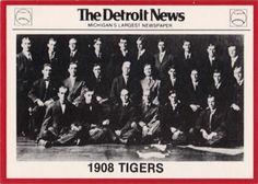 1981 Detroit News Detroit Tigers #108 1908 Tigers Front
