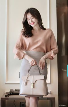T-Shirts, Dress, Blouse, Skirts, Pants & Casual Asian Fashion, Korean Fashion Minimal, Korean Fashion Work, Korean Fashion Trends, Office Outfits Women, Stylish Work Outfits, Stylish Dress Designs, Classy Outfits, Beautiful Outfits