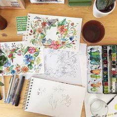 """Ieva Ozola: """"Jiný pocit než psaní na počítači"""" Sketch, Crafts, Sketch Drawing, Manualidades, Drawings, Handmade Crafts, Sketching, Diy Crafts, Craft"""