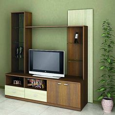 A TV unit with a perfect mix of storage and design Luxury Furniture, Tv Unit, Furniture, Tv Panel, Home, Modular Furniture, Royal Decorations, Wall Unit, Home Decor