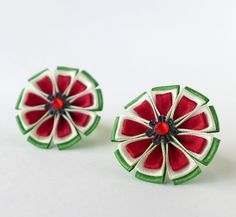 Watermelon hair bow. Set of 2 ponytail от ImportantTrifles на Etsy