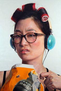 A selection of hyperreal paintings by Korean artist Kanghoon Kang.