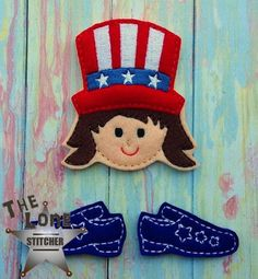 Patriotic Girl Set Over Sized: The Lone Stitcher