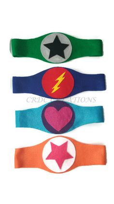 These belts are the perfect accessory for a little superhero. They make great birthday party favors too!  All belts are hand cut and made of