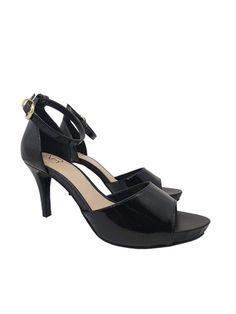 4df2cf9c06 NR Fashion Shoes · Sandálias Verão 2019 · Sandália Meia Pata Verniz Preta