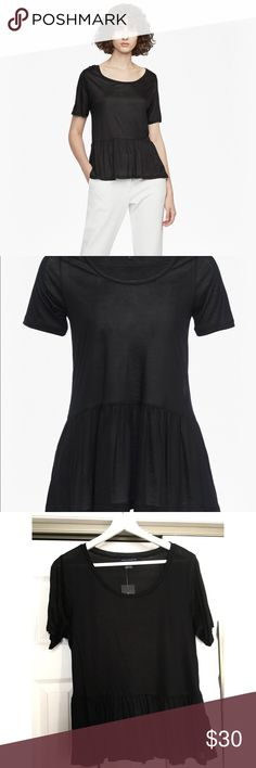 French Connection Peplum Top Black jersey peplum top. Never used French Connection Tops Tees - Short Sleeve