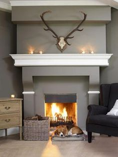 #Fireplace country living room