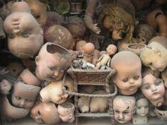 Abandoned dolls.