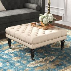 online shopping for Landis Tufted Square Cocktail Ottoman Kelly Clarkson Home from top store. See new offer for Landis Tufted Square Cocktail Ottoman Kelly Clarkson Home Coffee Table Stand, Coffee Table With Storage, Coffee Tables, Kelly Clarkson, Chaise Sofa, Armchair, Chesterfield Sofa, Square Ottoman, Cocktail Ottoman