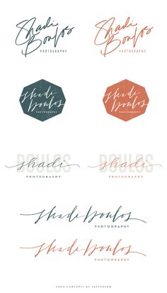 Brand Launch: Shadi Boulos Photography - Salted Ink Design Co. | Logo Concepts | #handlettered #calligraphy #handdrawn