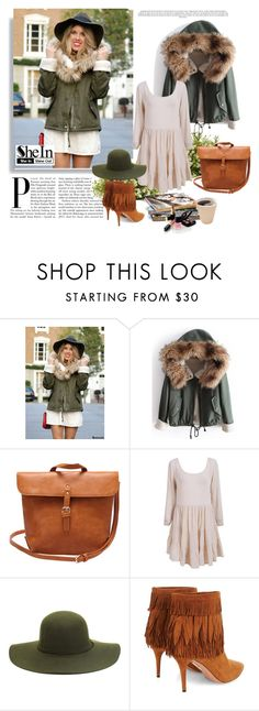 """""""SheIn 5/VIII"""" by nermina-okanovic ❤ liked on Polyvore featuring Aquazzura, Nearly Natural, Chanel and vintage"""