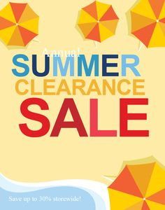Summer Clearance Sale Poster XX1001301-PI_1 by 4pmdesign.com - Retail & Sales, Posters