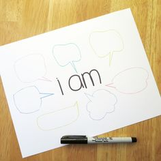I Am: Beat Your Bullies with Positivity (+ a printable too! handmade goodness To do on Poplet Counseling Activities, Therapy Activities, Coping Skills, Social Skills, Therapy Tools, Play Therapy, Guidance Lessons, Youth Lessons, School Social Work