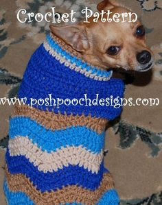 Chevron Dog Sweater for Small and Extra Small Dogs Crochet Pattern Crochet Dog Clothes, Crochet Dog Sweater, Dog Sweater Pattern, Dog Pattern, Pet Clothes, Sweater Patterns, Dog Crochet, Small Dog Sweaters, Dog Jacket