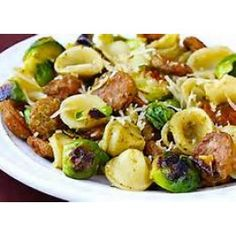Pasta With Brussels Sprouts Sausage and Gorgonzola Cheese Recipe