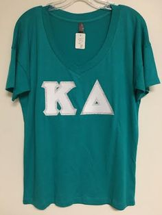 Sorority Stitched Letter Shirt Kappa Delta by ExperTsVA on Etsy