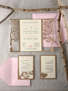 Laser cut wedding invitations from @4LOVEPolkaDots