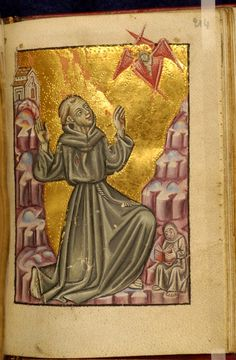 'St Francis of Assisi'. Book of Hours. Follower of Zanino di Pietro (Italian, active from 1389, died before 1448). mid 15th century (before ...