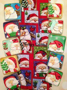 Santa cookie inspiration w/ cookies