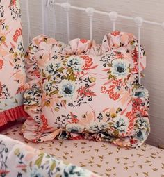 Girls Crib Bedding Sale, Blush and Coral Bumperless baby bedding, Floral Nursery Crib Set Baby Girl Crib Bedding, Girl Cribs, Nursery Crib, Nursery Bedding Sets, Girl Nursery, Baby Girl Crib Sets, Pink Gold Nursery, Floral Crib Sheet