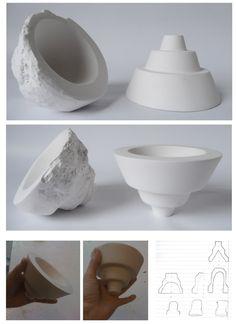 Plaster bowl by Valery Overhoff, via Behance