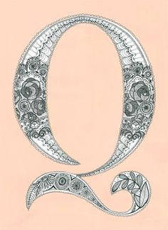 Rebecca Sandlant -->love this doodle Letter Q