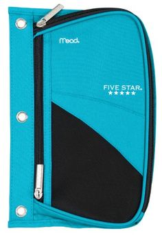 Five Star Pencil Pouch, Xpanz Zipper with Mesh Window, 3-Ring, 6.75 x 10 Inches, Teal Blue (73023) Five Star http://www.amazon.com/dp/B00M9IEYJE/ref=cm_sw_r_pi_dp_RRZBvb1Y1R9K4
