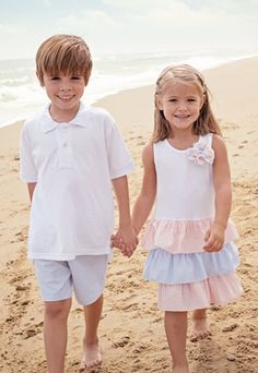 Cwdkids - wish we lived closer to the coast so Kaitlyn could rock a cute dress on the beach Matching Sister Outfits, Cute Outfits For Kids, Baby Boy Fashion, Kids Fashion, Boy Girl Twins, Girls, Kids Dress Wear, Sewing Kids Clothes, Baby Couture