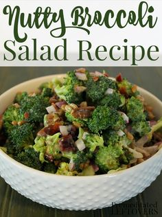 This delicious nutty broccoli salad recipe is a quick and easy side dish. The dressing uses a balsamic vinaigrette to add a unique flavor to the salad. This is a great side dish for dinner, makes a great dish for a picnic or BBQ, but can also be eaten as a meal for lunch if you wish.