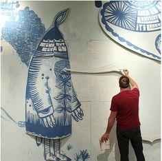 THOMAS CAMPBELL MURAL @ SANTA CRUZ MUSEUM OF ART & HISTORY