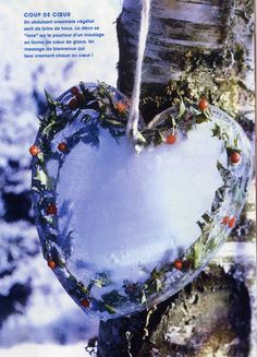 frozen flower heart