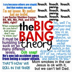 Big Bang Theory Quotes  @Meghan Krane Gruber - this one's for you!!