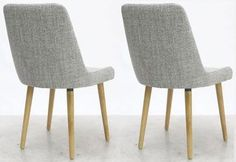 Grey Weave Fabric Dining Chairs: x 2 / Sets of 4 and 6 available in Home, Furniture & DIY, Furniture, Chairs | eBay