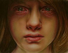 Realistic Illustrations by Brian Scott (Reminds me of face of pain and depression)