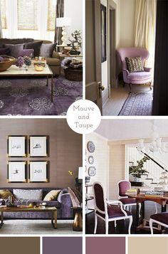 Mauve and Taupe color palette #home #decor