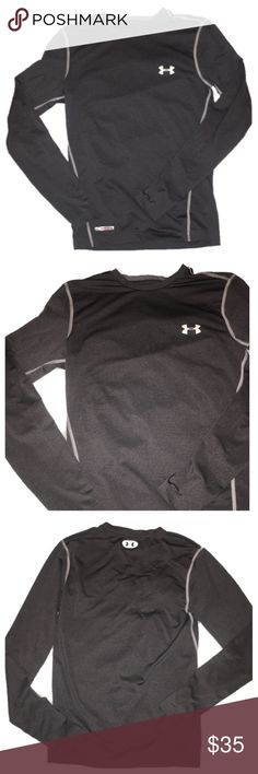 Under Armour heat gear shirt Perfect condition under Armour long sleeve heat gear shirt / size small in gray Under Armour Tops Tees - Long Sleeve