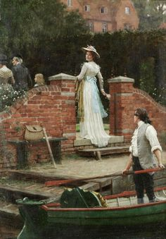 The Glance That Enchants ~ Edmund Blair Leighton ~ (English: 1852-1922)