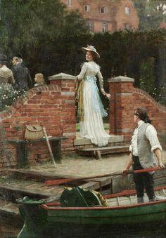 The Glance That Enchants ~ Edmund Blair Leighton ~ (English: 1852-1922)