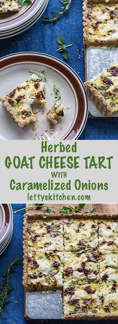 Sweet Onion And Goat Cheese Tarts With Thyme Recipe — Dishmaps