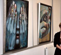 Gallery exhibit. It is over, Sunset Mihail Miho Korubin Korubin #art #Figurative #paintings #figures #faces #portraits #hands #korubin #mihail #oil #canvas #exhibition