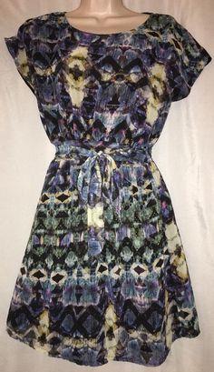 e9b1d0cd8d883 Uttam Boutique Dress Size UK 8 US 0 2 EU 36 Tunic Graphic Print Elastic  Waist