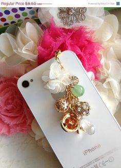 iPhone dust plug and charm