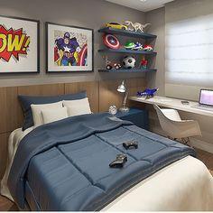 Quarto menino, super heróis em ação Projeto by @hortaevello #bedroom #decoracion…