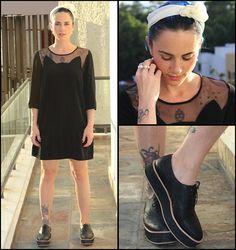Kalinda Kano - American Apparel Hairband, H&M Dress, Good Bye Folk Shoes, Gala Is Love Pearl Ring - Feeling catty